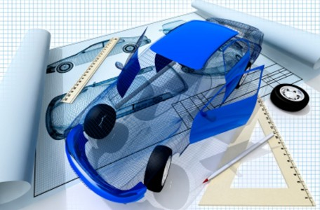 3d picture of drawing and car